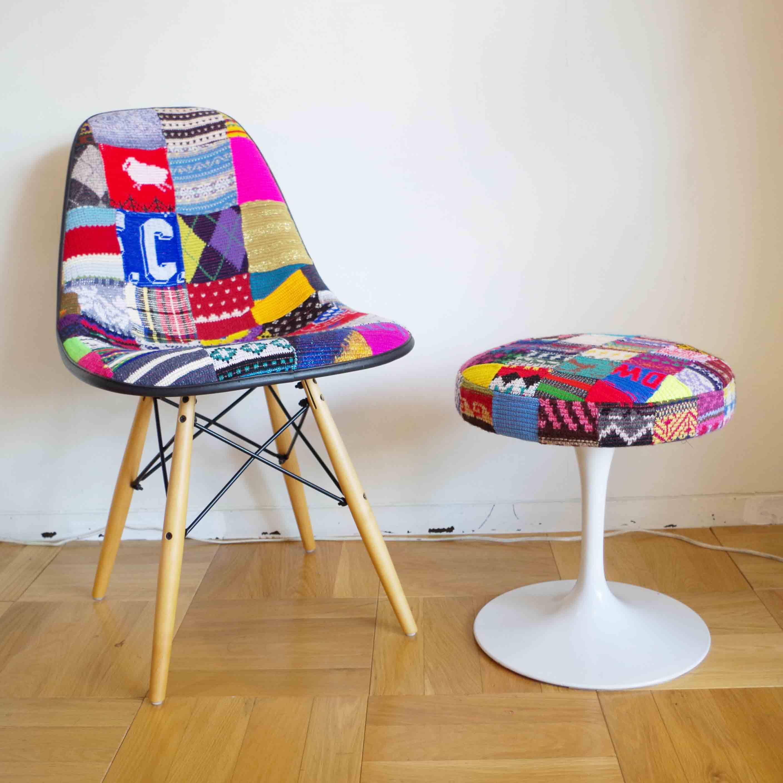【desertic×case study shop】Knit Side Stool ニットスツール