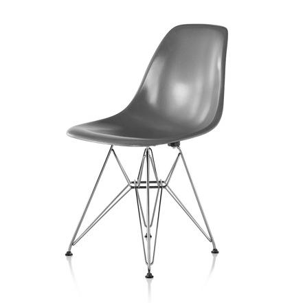 【ハーマンミラー正規販売店】イームズファイバーグラスサイドチェア エレファントハイドグレー ワイヤーベース Eames Molded Fiberglass Side Chair