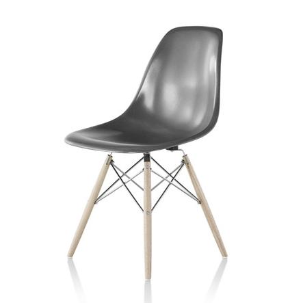 【ハーマンミラー正規販売店】イームズファイバーグラスサイドチェア エレファントハイドグレー ダウェルベース Eames Molded Fiberglass Side Chair