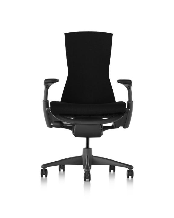 【ハーマンミラー正規販売店】エンボディチェア Embody Chair  グラファイトカラーベース リズム生地 ブラック 国内定番仕様