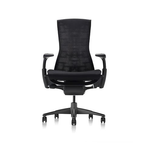 【ハーマンミラー正規販売店】エンボディチェア Embody Chair  グラファイトカラーベース バランス生地 ブラック 国内定番仕様