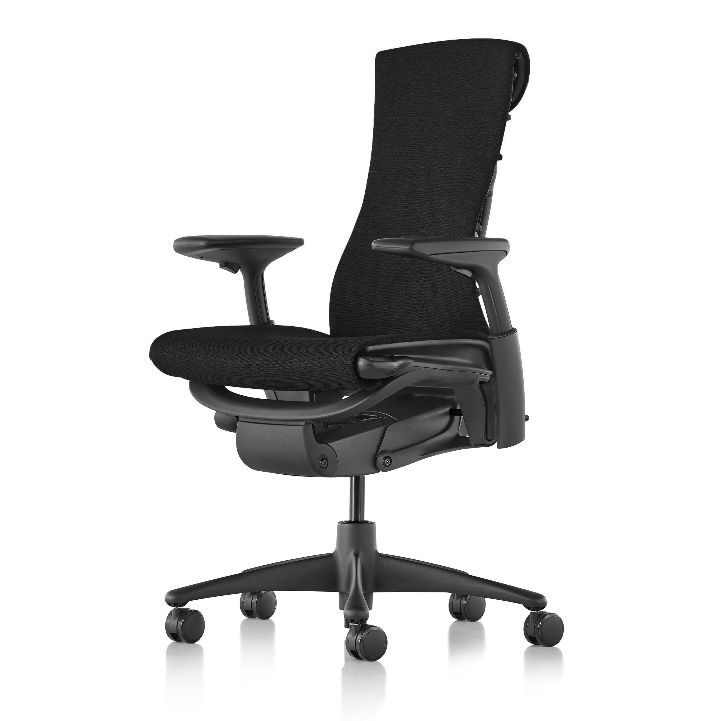 【在庫あり】【ハーマンミラー正規販売店】エンボディチェア Embody Chair  グラファイトカラーベース シンク生地ブラック 国内定番仕様