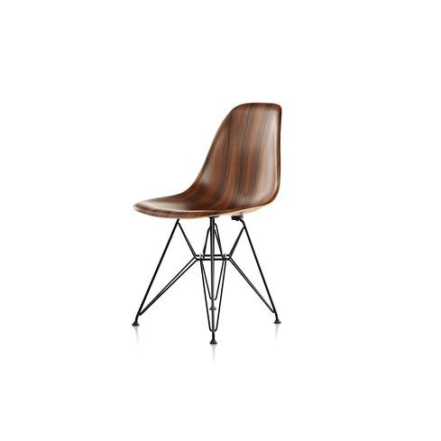【ハーマンミラー正規販売店】イームズウッドシェルチェア ワイヤーベース サントスパリサンダー DFSR Eames Molded Wood Chairs