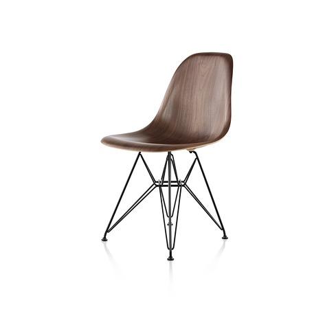 【ハーマンミラー正規販売店】イームズウッドシェルチェア ワイヤーベース ウォールナット Eames Molded Wood Chairs