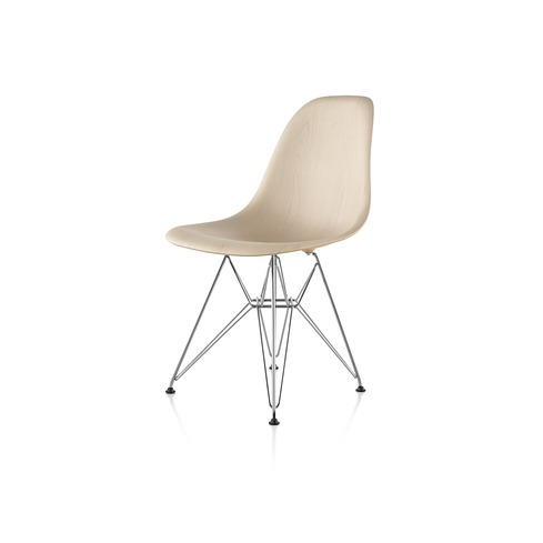 【ハーマンミラー正規販売店】イームズウッドシェルチェア ワイヤーベース ホワイトアッシュ DWSR Eames Molded Wood Chairs