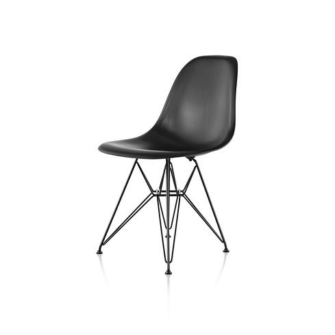 【ハーマンミラー正規販売店】イームズウッドシェルチェア ワイヤーベース エボニー DFSR Eames Molded Wood Chairs