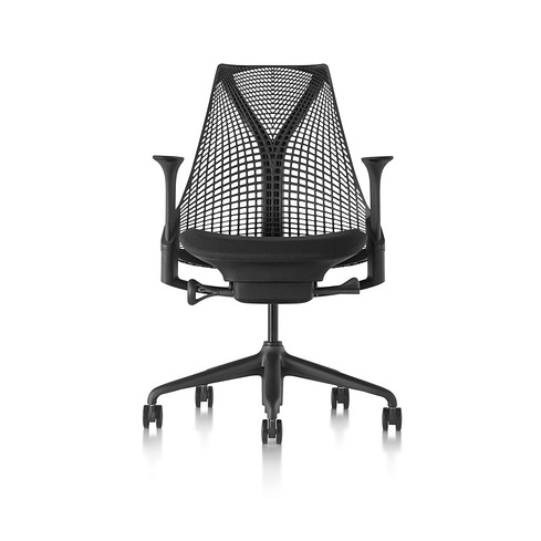 【ハーマンミラー正規販売店】セイルチェア Sayl Chair サスペンションミドルバック ブラック(座面ノアール)