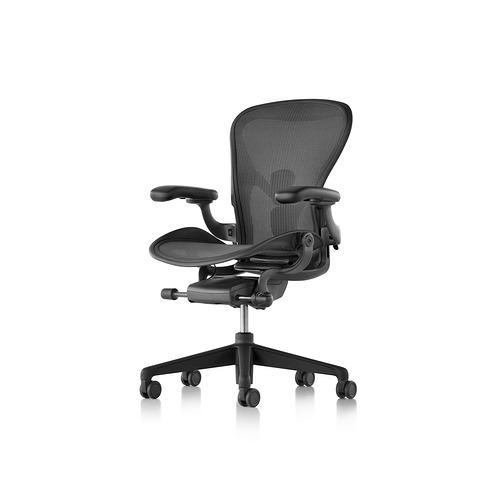 Aeron Chair Remastered アーロンチェア リマスタード ポスチャーフィットSL フル装備 グラファイト/グラファイトベース Cサイズ