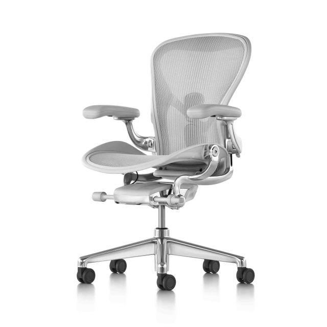 【ハーマンミラー正規販売店】アーロンチェア リマスタード フル装備 ミネラル/ポリッシュドアルミニウムベース  Aeron Chair Remastered