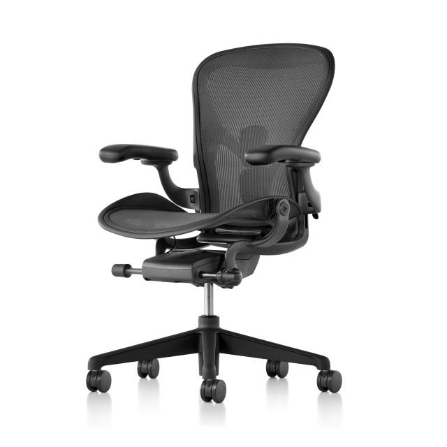 【ハーマンミラー正規販売店】アーロンチェア リマスタード ポスチャーフィットSL フル装備 グラファイト/グラファイトベース Aeron Chair Remastered