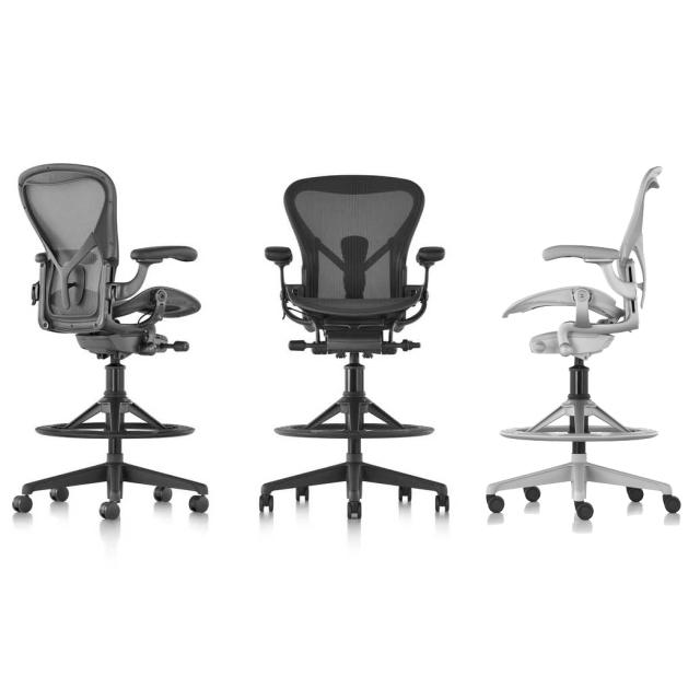 【Herman MIller正規販売店】Aeron Chair Remastered Stool アーロンチェア リマスタード スツール フルアジャスタブルアーム