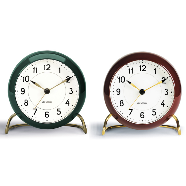 【ROSENDAHL】AJテーブルクロック 2019復刻限定色バーガンディ&グリーン アルネ・ヤコブセン AJ Table Clock