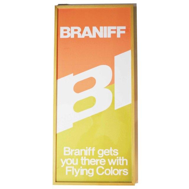 ブラニフ チケットオレンジポスター&フレーム