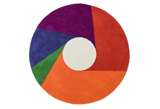 【METROCS】 マックス・ビル カラーホイールラグ Max Bill color wheel rug