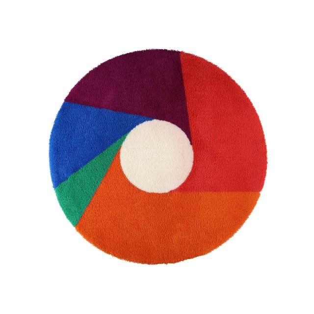 【METROCS】 マックス・ビル カラーホイールラグマットφ1000mm Max Bill color wheel rug mat