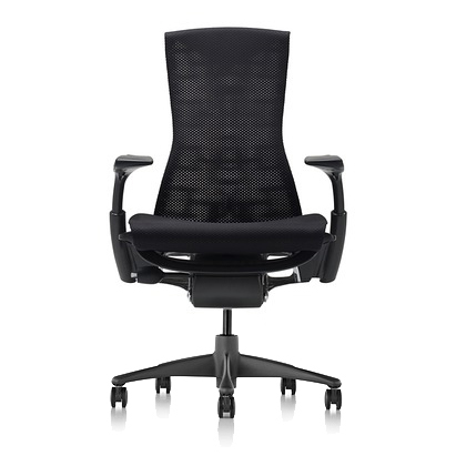 【次回5/21在庫入荷予定でしたが遅延します】ハーマンミラー正規販売店】エンボディチェア Embody Chair  グラファイトカラーベース バランス生地 ブラック 国内定番仕様
