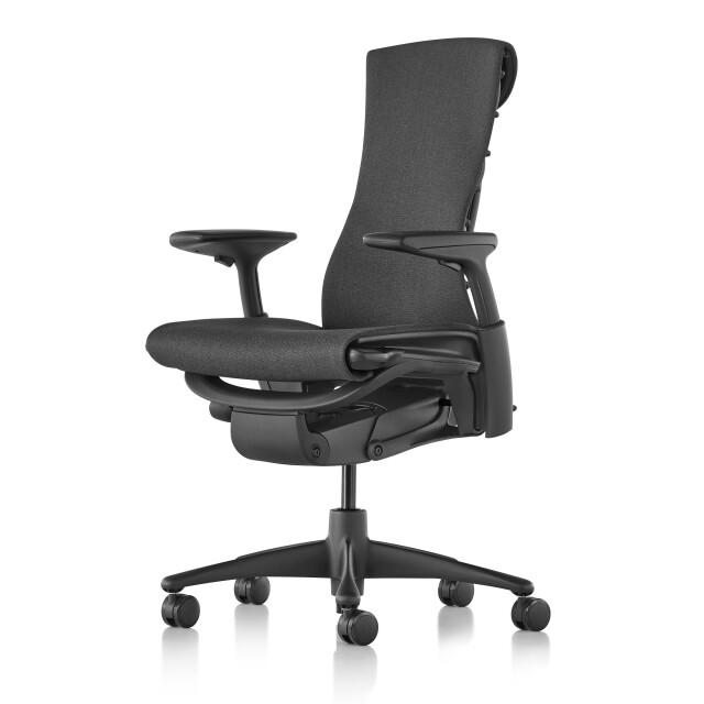 【在庫あり】【ハーマンミラー正規販売店】エンボディチェア Embody Chair  グラファイトカラーベース メドレー生地シンダー 国内定番仕様