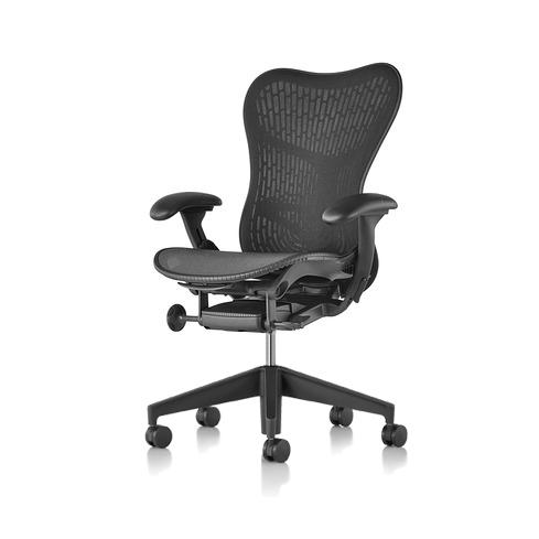 【在庫あり】【ハーマンミラー正規販売店】Mirra2 Chair ミラ2チェア バタフライサスペンション&ラティテュードファブリック グラファイト-ブラック グラファイトカラーベース 国内定番仕様