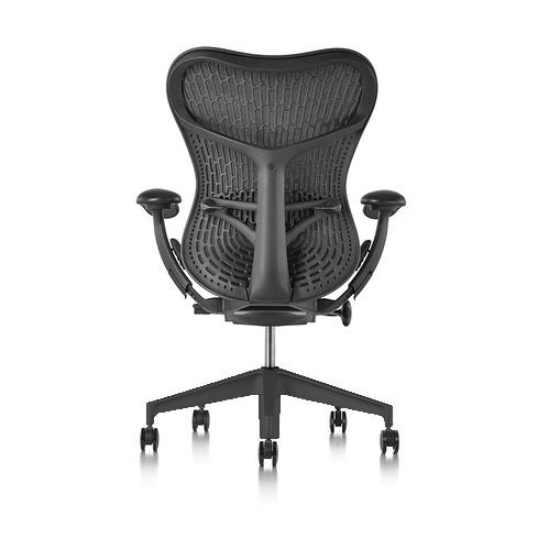 【ハーマンミラー正規販売店】Mirra2 Chair ミラ2チェア バタフライサスペンション&ラティテュードファブリック グラファイト-ブラック グラファイトカラーベース 国内定番仕様