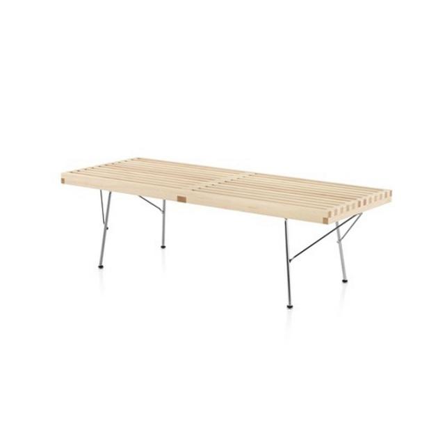 【ハーマンミラー正規販売店】ネルソンプラットフォームベンチ メープル/メタルベース Nelson Platform Bench
