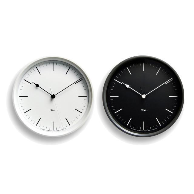 【レムノス】 RIKI STEEL CLOCK リキスチールクロック (電波時計) アウトレット品