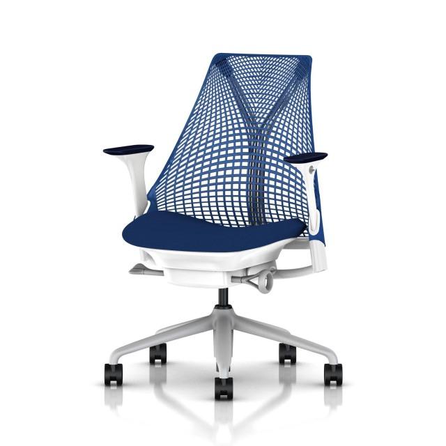 【在庫あり】【ハーマンミラー正規販売店】セイルチェア Sayl Chair ブルー アジャスタブルアーム BBキャスター