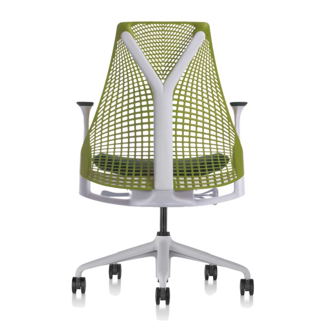 【在庫あり】【ハーマンミラー正規販売店】セイルチェア Sayl Chair サスペンションミドルバック 特注グリーン