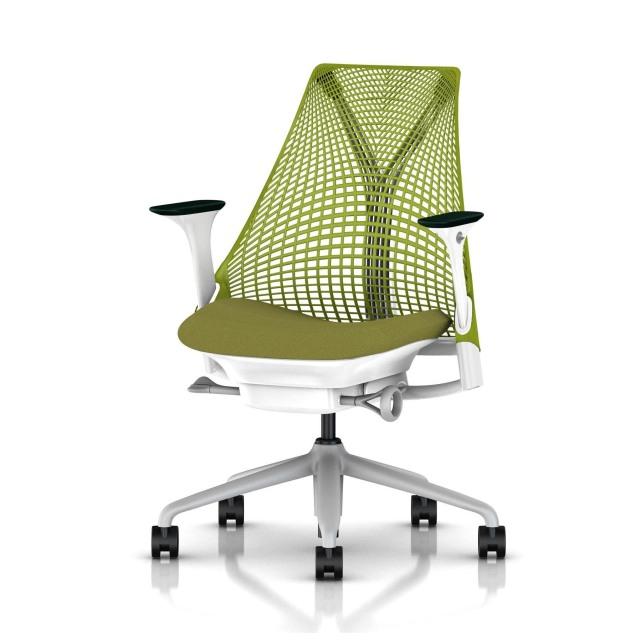 【次回9/24在庫入荷予定】【ハーマンミラー正規販売店】セイルチェア Sayl Chair グリーン アジャスタブルアーム BBキャスター