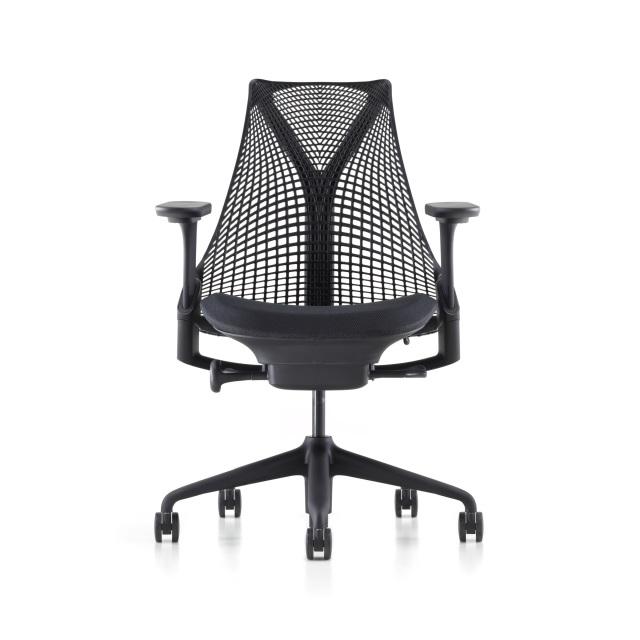 【次回10/13在庫入荷予定】【ハーマンミラー正規販売店】セイルチェア Sayl Chair ブラック フルアジャスタブルアーム BBキャスター