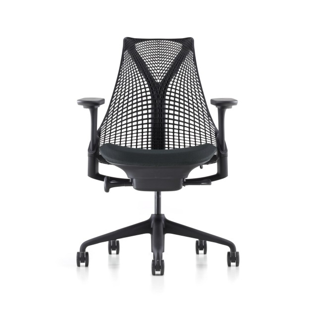 【次回12/11在庫倉庫入庫予定】【ハーマンミラー正規販売店】セイルチェア Sayl Chair ブラック フルアジャスタブルアーム/C7キャスター
