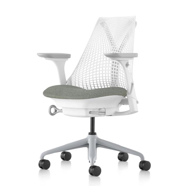 【次回12/8在庫入庫予定】【ハーマンミラー正規販売店】セイルチェア Sayl Chair ホワイト/フェザーグレー フルアジャスタブルアーム