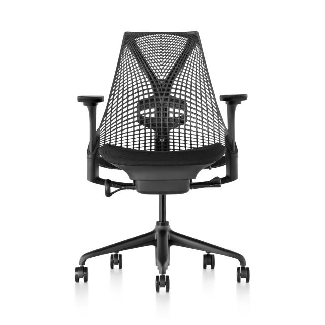【次回10/22在庫倉庫入庫予定】【ハーマンミラー正規販売店】セイルチェア Sayl Chair ブラック フルアジャスタブルアーム/ランバーサポート付き