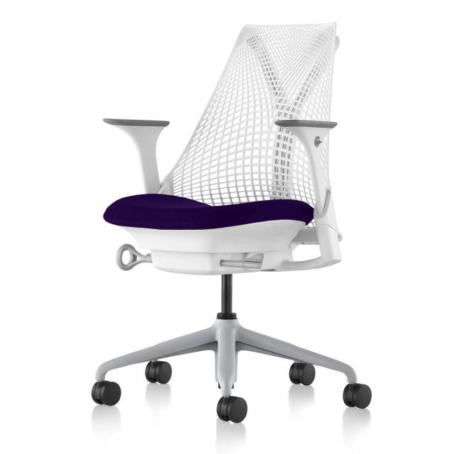 【ハーマンミラー正規販売店】セイルチェア Sayl Chair 別注仕様 ホワイトフレーム/レイト