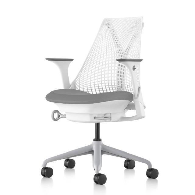 【ハーマンミラー正規販売店】セイルチェア Sayl Chair 別注仕様 ホワイト&マーキュリー