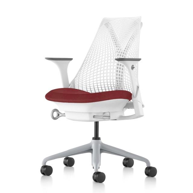 【ハーマンミラー正規販売店】セイルチェア Sayl Chair 別注仕様 ホワイト&ルージュ