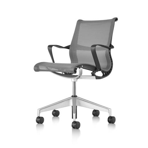 【Herman MIller正規販売店】セトゥーチェア Setu Chair マルチパーパス5本脚タイプキャスター リボンアーム/グラファイト 国内在庫仕様