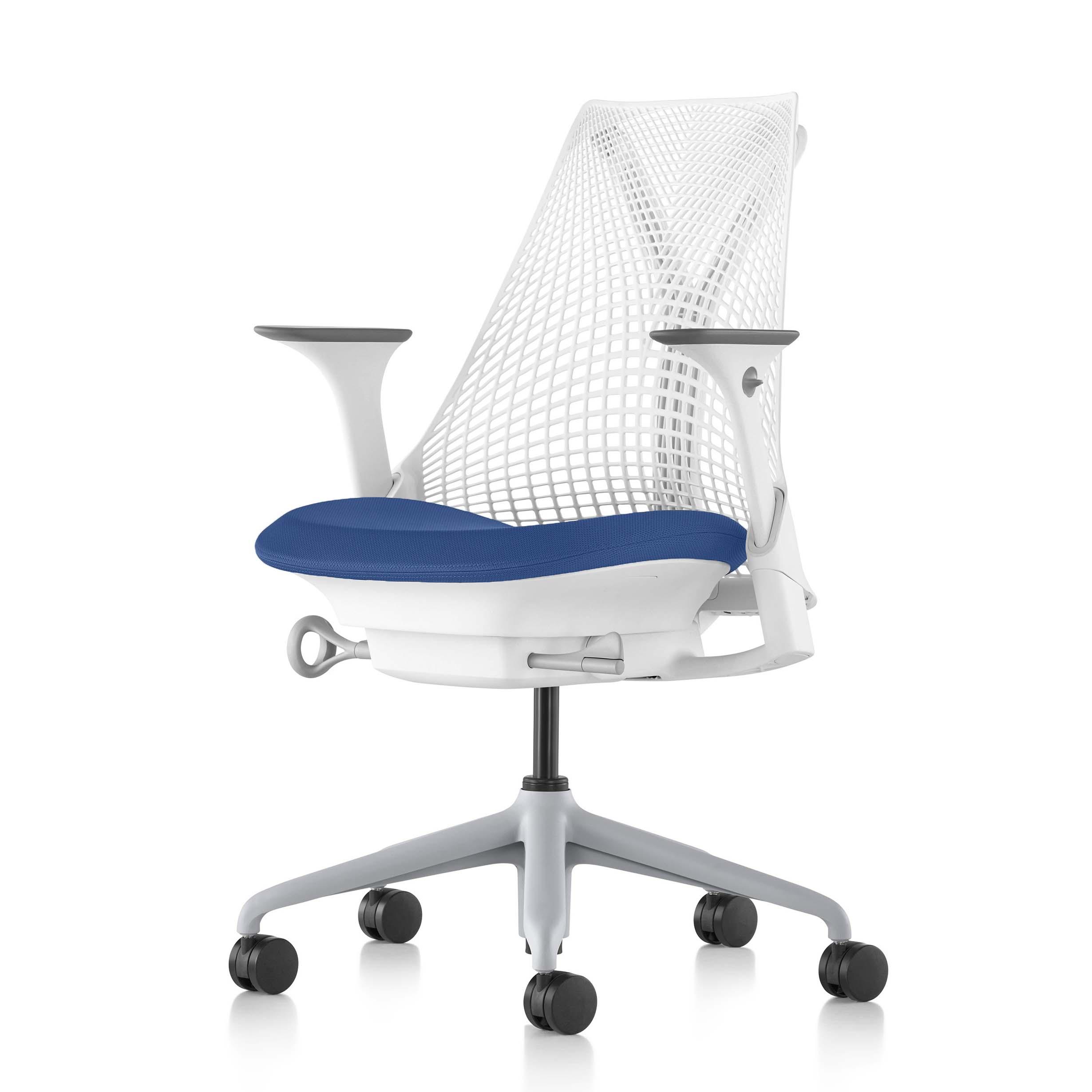 【ハーマンミラー正規販売店】セイルチェア Sayl Chair 別注仕様 ホワイト&プール