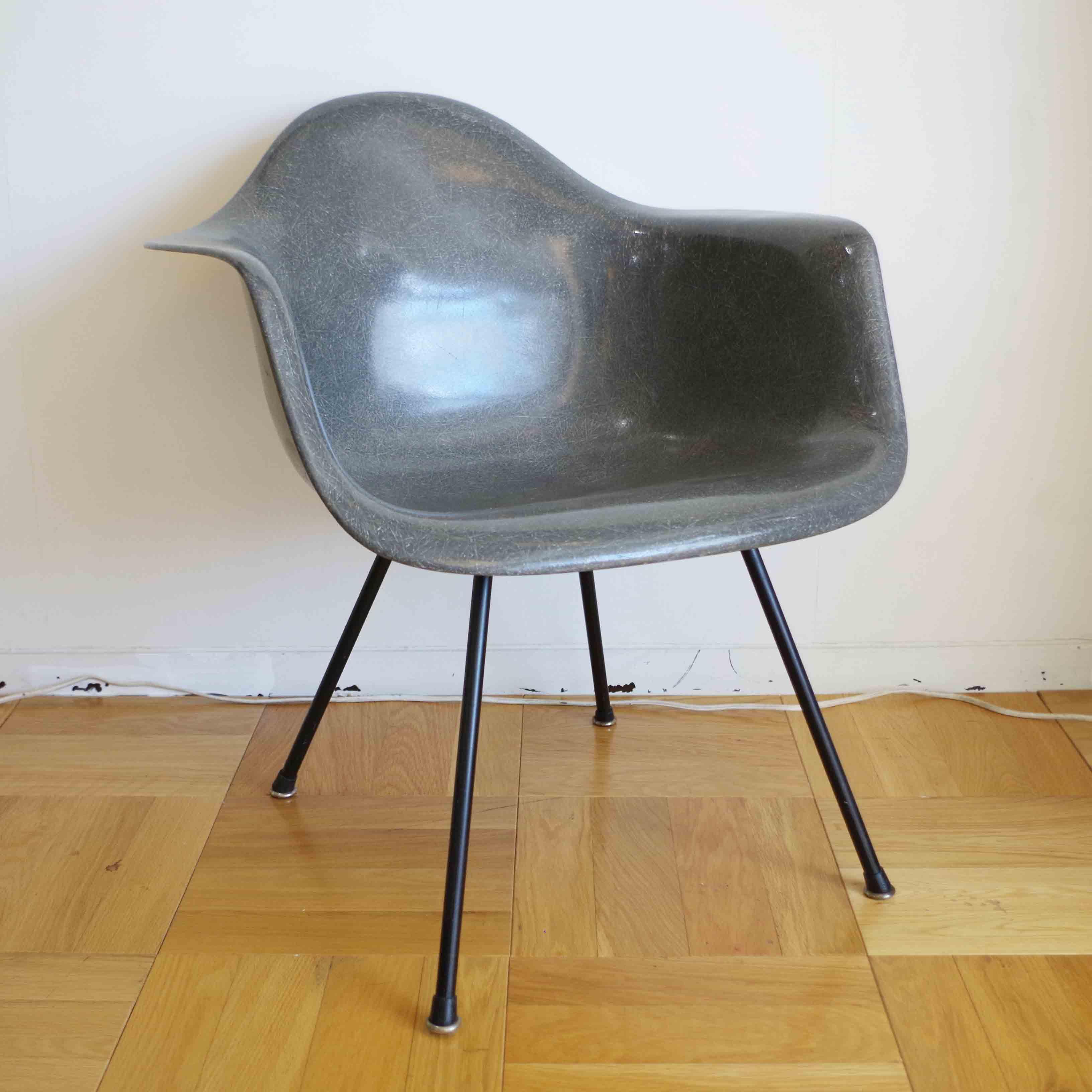 Herman Miller 50年初期ヴィンテージ イームズMAX エレファントハイドグレー  美品