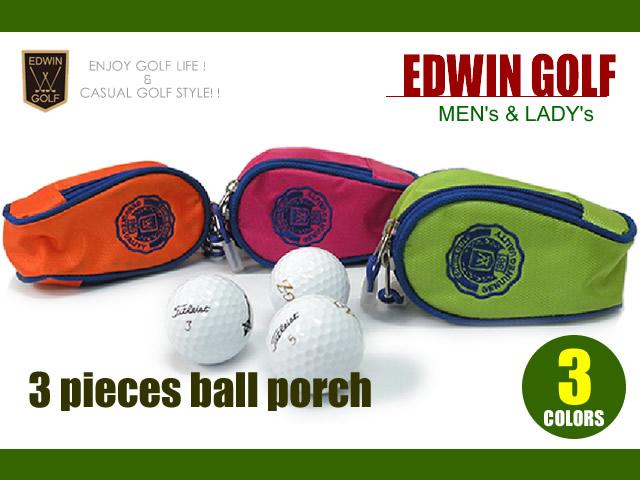 edwin golf ボールポーチ大