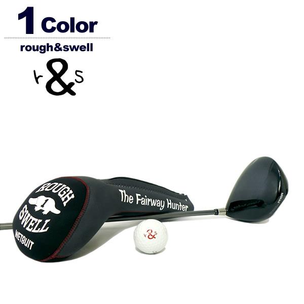 rough&swell[ラフアンドスウェル]Two-tone ウェットスーツドライバーヘッドカバー BLACK×GRAY
