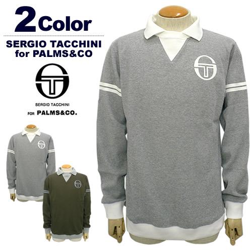 【SALE 20%OFF】SERGIO TACCHINI for PALMS&CO.[セルジオタッキーニパームスアンドコー]ワッフルロングスリーブポロシャツ【2017年秋冬】