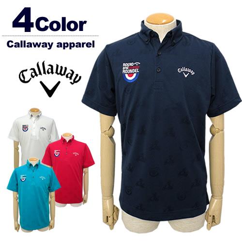 Callaway apparel[キャロウェイアパレル]ジャガードボタンダウンポロシャツ【2017秋冬】