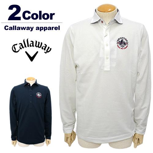【SALE 50%OFF】Callaway apparel[キャロウェイアパレル]ハイブリッドマジック長袖鹿の子ポロシャツ【2017年秋冬】