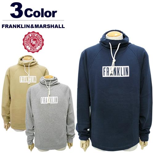 【SALE 30%FF】FRANKLIN&MARSHALL[フランクリンマーシャル]ハイネックスウェットプルオーバー【2017年秋冬】