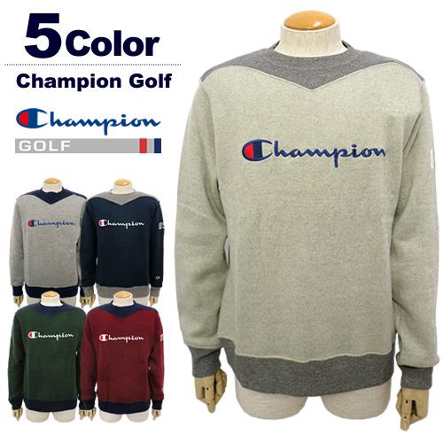【SALE 30%OFF】Champion GOLF[チャンピオンゴルフ]裏起毛クルーネックセーター【2017年秋冬】