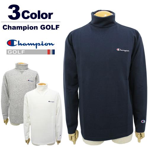 【SALE 30%OFF】Champion GOLF[チャンピオンゴルフ]Vガゼット付きタートルネック【2017年秋冬】