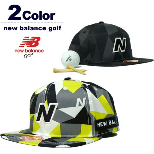 new balance golf[ニューバランスゴルフ]カモ柄プリントフラットブリムキャップ【2017年秋冬】