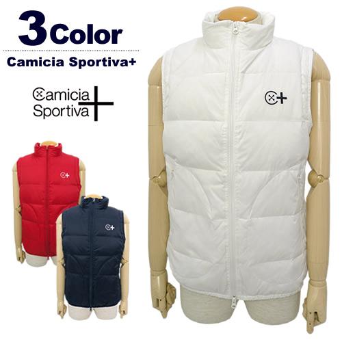 【SALE 60%OFF】カミーチャスポルティーバプラス ダウンベスト メンズ ゴルフ 保温 軽量 CamiciaSportiva+2017秋冬 セール