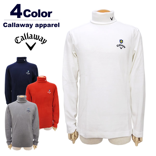 【SALE/セール30%OFF】Callaway apparel[キャロウェイアパレル]起毛タートルシャツ【2018年秋冬】