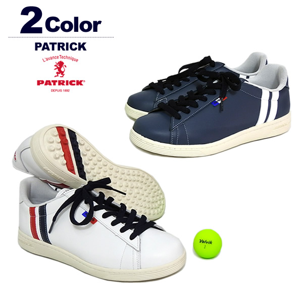 パトリック ゴルフシューズ メンズ スパイクレス 牛革 PATRICK QUEBEC-C G3000 G3002 定番